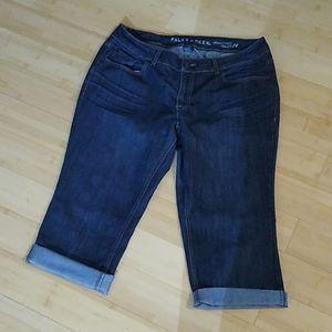 Ladies cropped jeans capris size 14